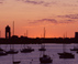 Sunrise over Boston Harbor - Boston, MA Travel Photography